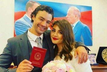 Сын Жан-Клода Ван Дамма женился на пианистке из Азербайджана